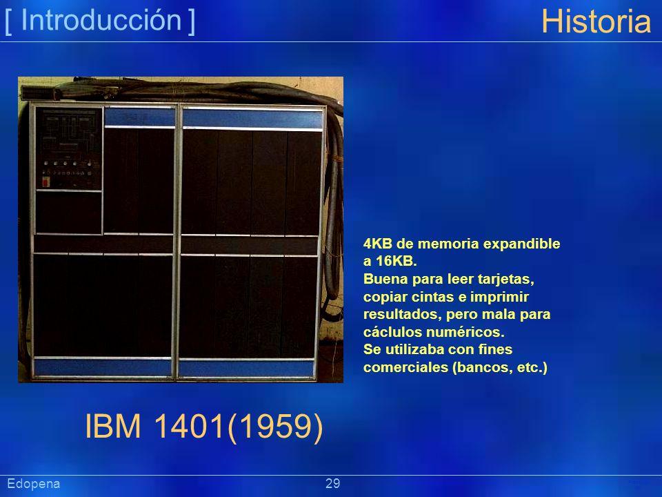 Historia IBM 1401(1959) [ Introducción ]